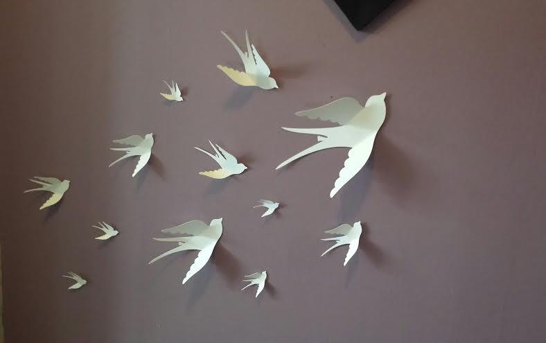 Paper Wall 3D Bird 3D Wall Art Paper Bird Wall Paper Intended For White Birds 3D Wall Art (View 7 of 20)