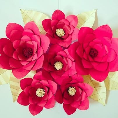 Paper Wall Art Paper Flowers Giant Paper Flower Wall Art In Flowers 3D Wall Art (Image 17 of 20)