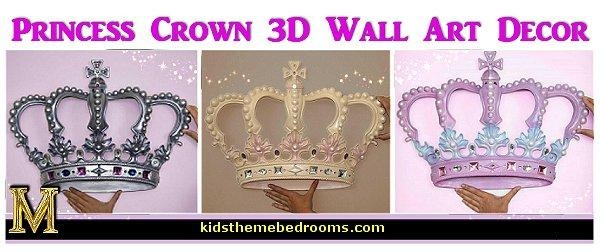 Princess Wall Decals, Metal Crown Wall Decor Princess Crown Wall Within 3D Princess Crown Wall Art Decor (Image 11 of 20)