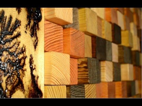 Reclaimed Wood 3D Wall Panel – Youtube With Wood 3D Wall Art (Image 9 of 20)