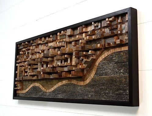Reclaimed Wood Wall Art – Google Search | Home Office | Pinterest Inside Wood 3D Wall Art (Image 10 of 20)