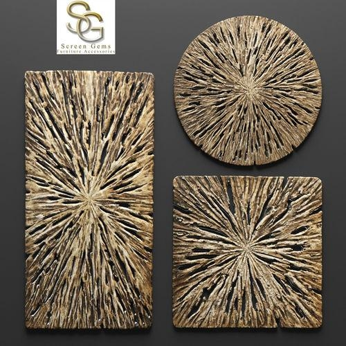Rotten Wood Wall Art – Set 3D | Cgtrader Throughout Wood 3D Wall Art (Image 11 of 20)