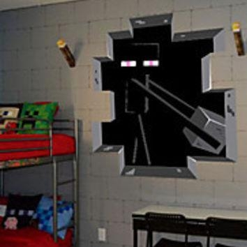 Shop Minecraft Wall Decals On Wanelo For Minecraft 3D Wall Art (Image 17 of 20)