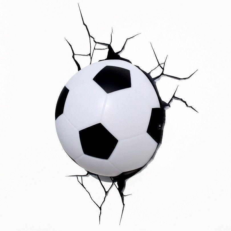 Soccer Ball Nightlight Football Marvel 3D Wall Art Lamp Lighting Throughout Football 3D Wall Art (Image 17 of 20)
