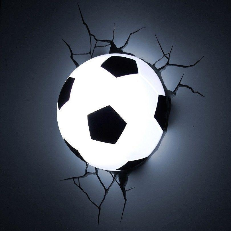 Soccer Ball Nightlight Football Marvel 3D Wall Art Lamp Lighting With Regard To Football 3D Wall Art (Image 18 of 20)
