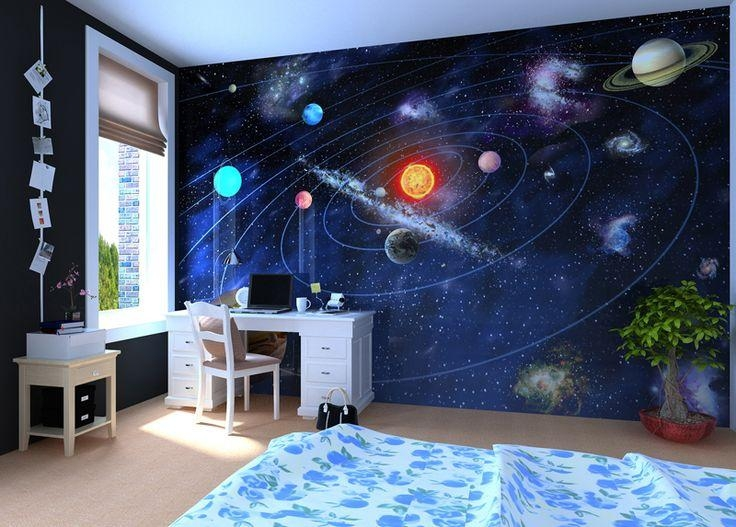 Solar System – Wall Mural, Wallpaper, Photowall, Home Decor Regarding 3D Solar System Wall Art Decor (Image 14 of 20)