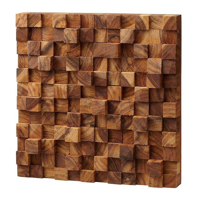 Square Takara Wall Art | Teak Wood, 3D Art | Uncommongoods Intended For Wood 3D Wall Art (Image 13 of 20)