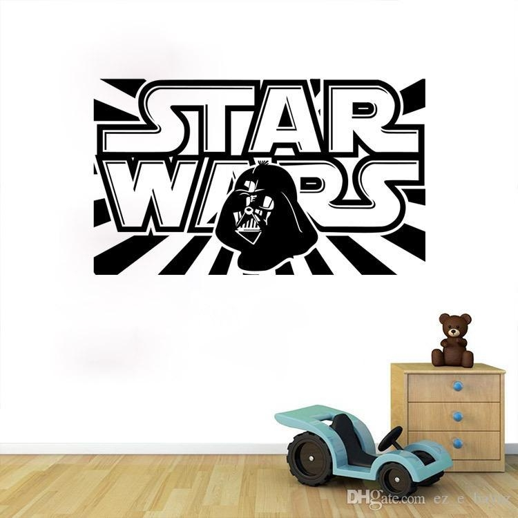 Star Wars Words Wall Decal 3D Wall Sticker Wall Decal Cartoon Pertaining To 3D Wall Art Words (Image 18 of 20)