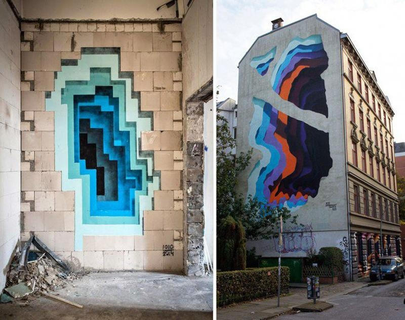 Street Artist 1010 Creates 3D Illusions On Walls Worldwide Intended For 3D Wall Art Illusions (View 11 of 20)