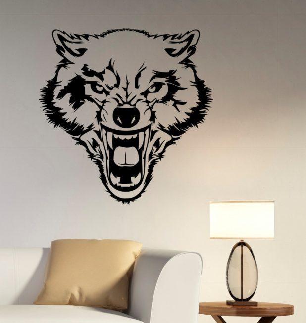Stupendous Wolf Furniture Wall Art Panels No Frameabstract Wolf Regarding Wolf 3D Wall Art (Image 11 of 20)
