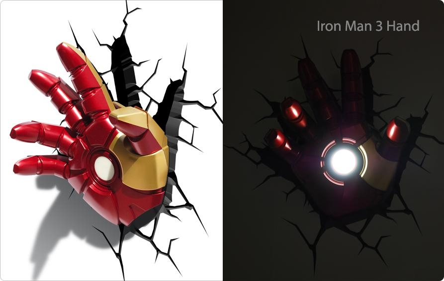 Target 3D Wall Art Thor Hammer, Captain America Shield And Hulk For 3D Wall Art Iron Man Night Light (Image 16 of 20)