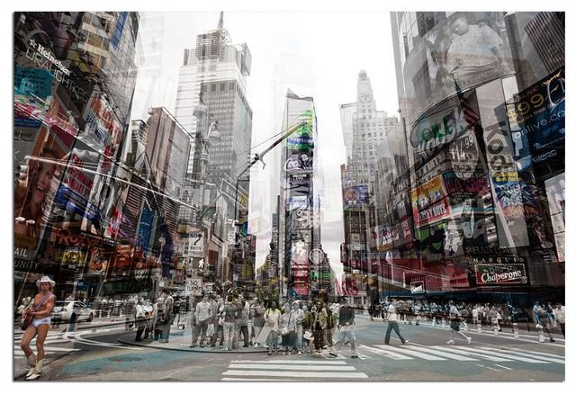 Tempered Glass Wall Art, 3D Times Square New York 4 – Traditional With Regard To New York 3D Wall Art (Image 15 of 20)