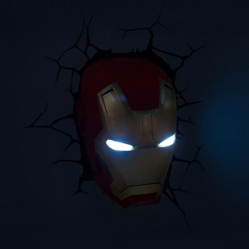 The Avengers 3D Wall Art Home Lighting Lamp Iron Man Mask Night Intended For Avengers 3D Wall Art (Image 16 of 20)