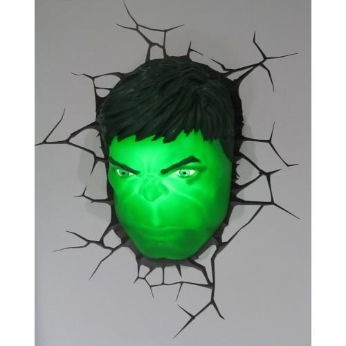The Avengers 3D Wall Art Nightlight – Hulk Head With Regard To Avengers 3D Wall Art (Image 18 of 20)