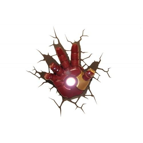 The Avengers 3D Wall Art Nightlight – Iron Man Hand Within Iron Man 3D Wall Art (View 3 of 20)