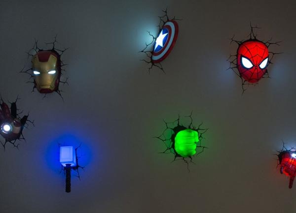 The Avengers Superhero 3D Deco Lights | Home Design And Interior Pertaining To 3D Wall Art With Lights (Image 13 of 20)