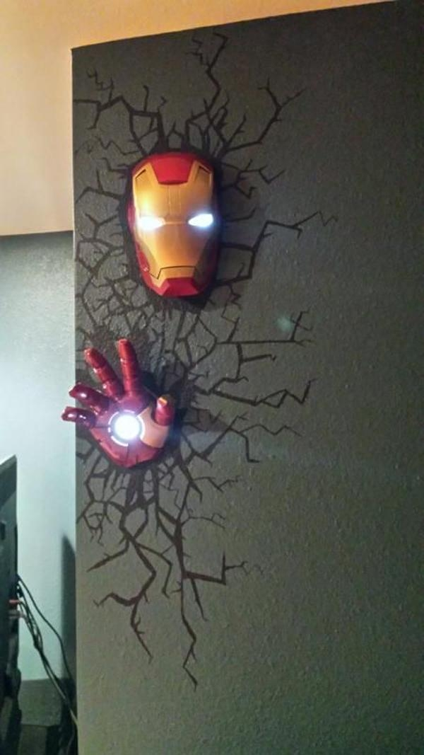 The Avengers Superhero 3D Deco Lights | Home Design And Interior Regarding 3D Wall Art With Lights (Image 14 of 20)