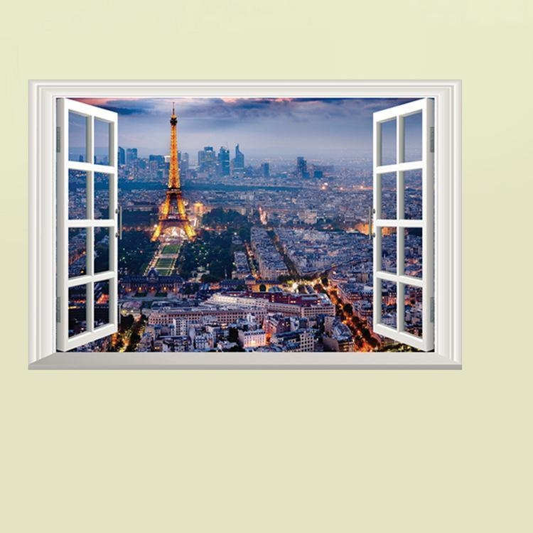 The Scenery Out Of The Window Wall Art Decal Sticker 3D Window For 3D Wall Art Window (View 12 of 20)