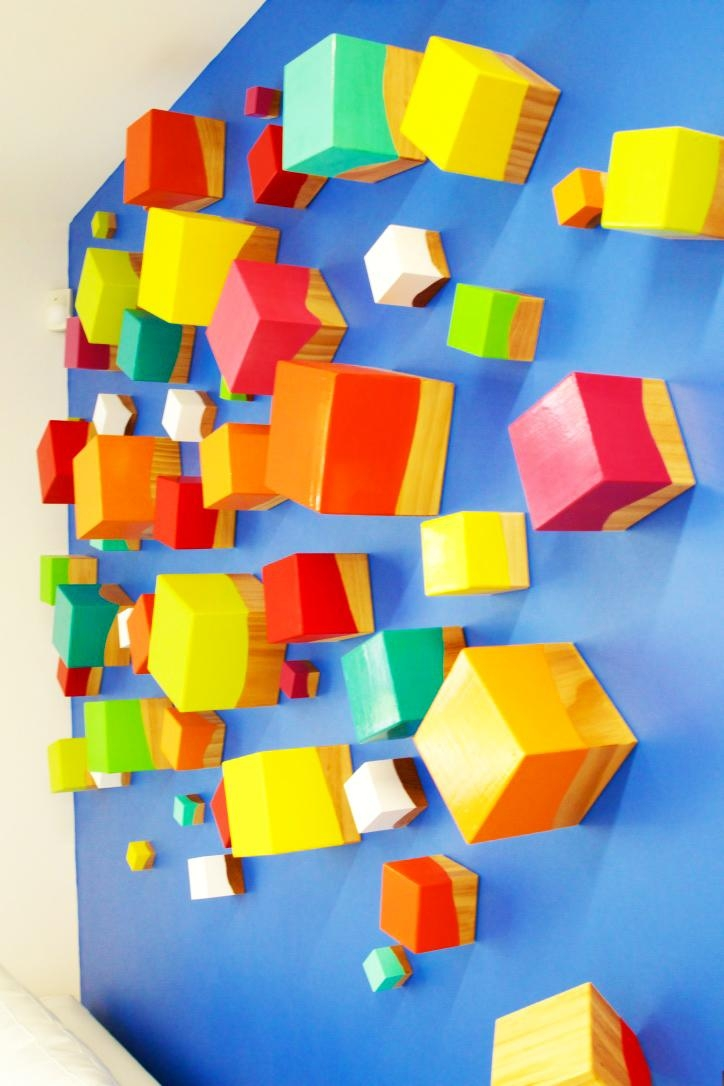 Thinking Out Of The Cube|3D Wall Sculpture | Rosemary Pierce Regarding Cubes 3D Wall Art (Image 16 of 20)