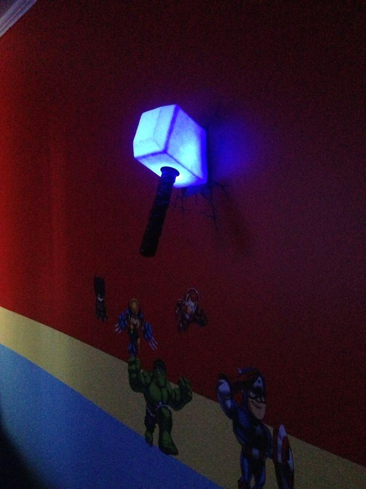 Wall art 3d wall art thor hammer night light 15 of 20 photos thor hammer wall light with 3d art night uk saplinghouse and 5 throughout 3d wall art thor hammer night light mozeypictures Image collections