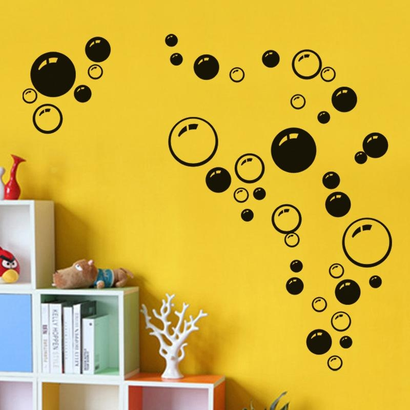 Three Colors Circle Bubble 3D Wall Stickers Wall Decals Wall Art Inside Circles 3D Wall Art (Image 17 of 20)