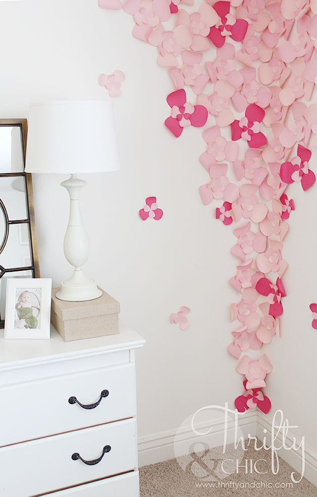Thrifty And Chic – Diy Projects And Home Decor Regarding 3D Flower Wall Art (Image 18 of 20)