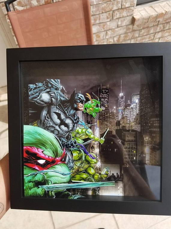 Tmnt And Batman 3D Frame Shadow Box Wall Art Inside Batman 3D Wall Art (View 15 of 20)