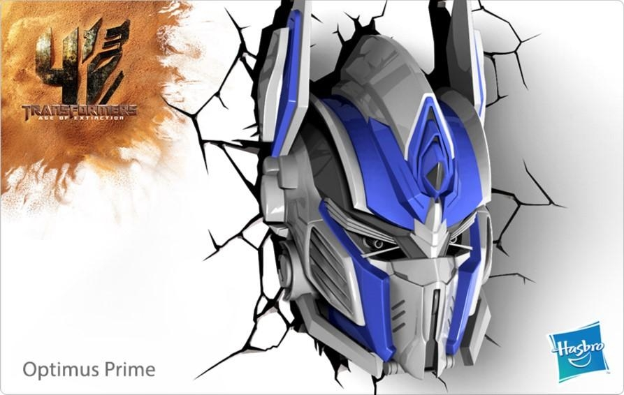 Transformers Optimus Prime 3D Deco Light | Raven Hobbies Ltd Intended For 3D Wall Art Night Light Australia (View 12 of 20)