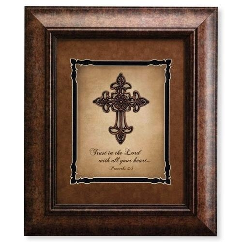 Trust In The Lord Proverbs 3:5 – 3D Cross Framed Wall Art Vc892 – In Framed 3D Wall Art (Image 16 of 20)
