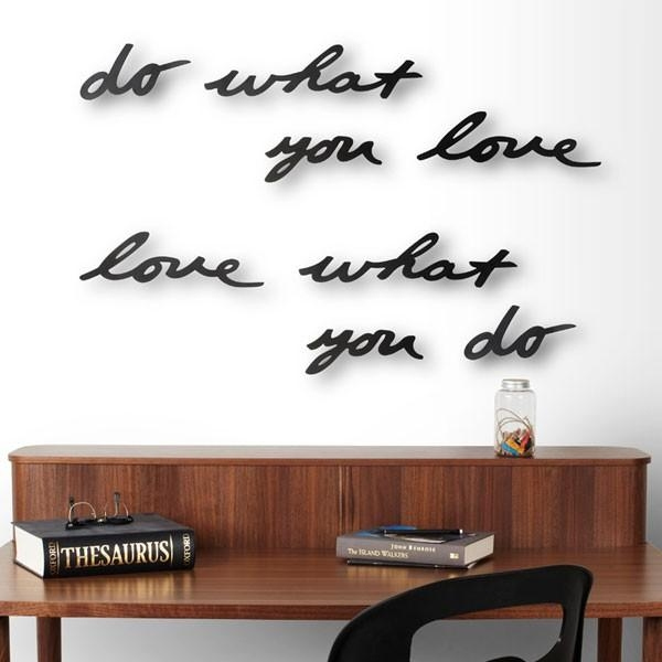 Umbra Mantra Wall Decor – Decorative Designer Wall Text Within Umbra 3D Wall Art (Image 12 of 20)