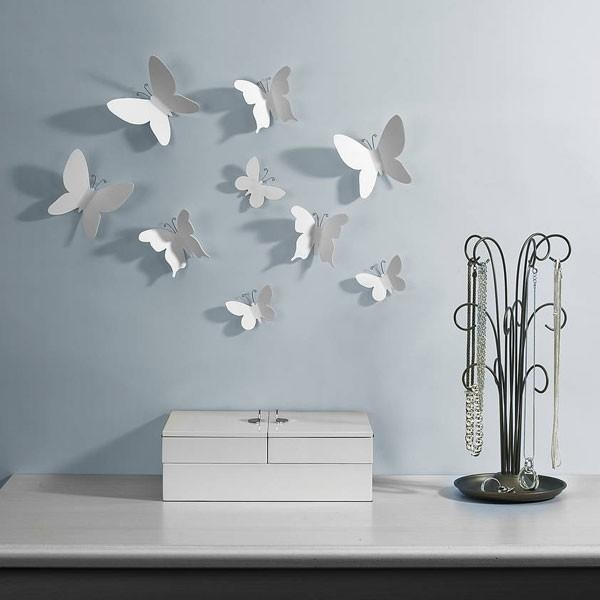 Umbra Mariposa Wall Decor – Wall Mounted Butterflies For Umbra 3D Wall Art (Image 13 of 20)