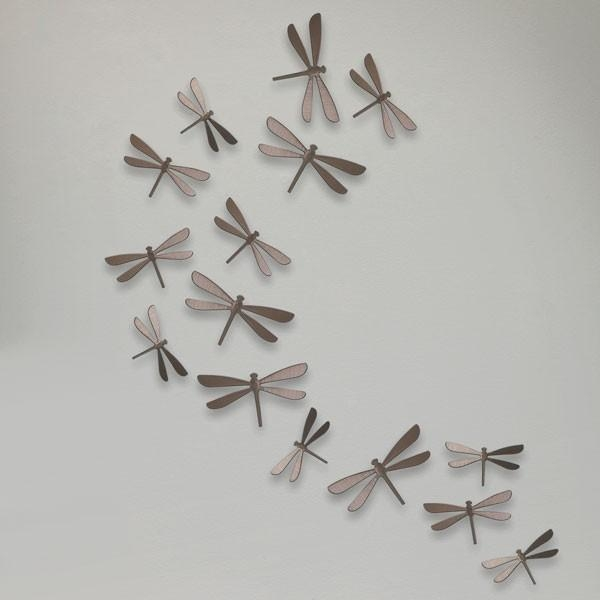 Umbra Wallflutter – Dragonfly Wall Decor Set With Umbra 3D Wall Art (Image 15 of 20)