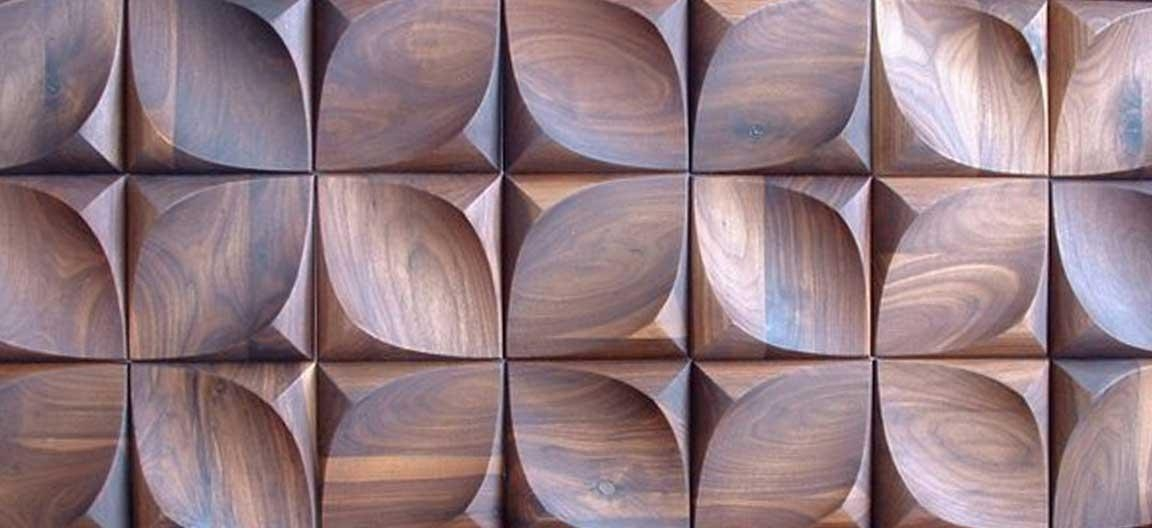 Urbanproduct – Dune [Hardwood 3D Wall Art Tile] Within Wood 3D Wall Art (Image 15 of 20)