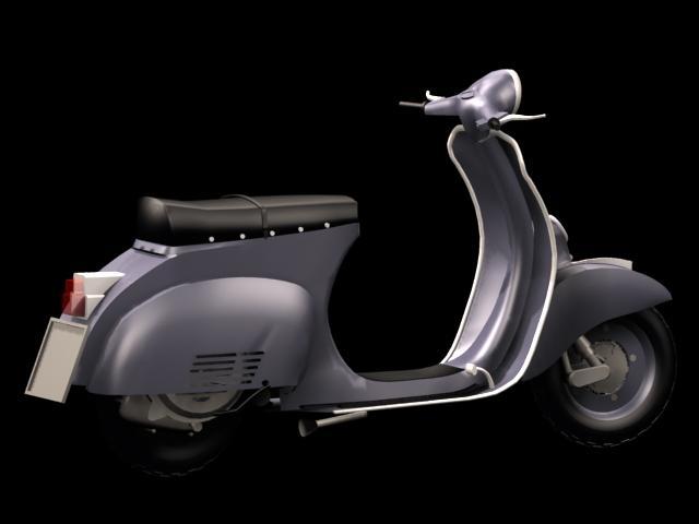 Vespa Motor Scooter 3D Model 3Dsmax Files Free Download – Modeling For Vespa 3D Wall Art (Photo 13 of 20)