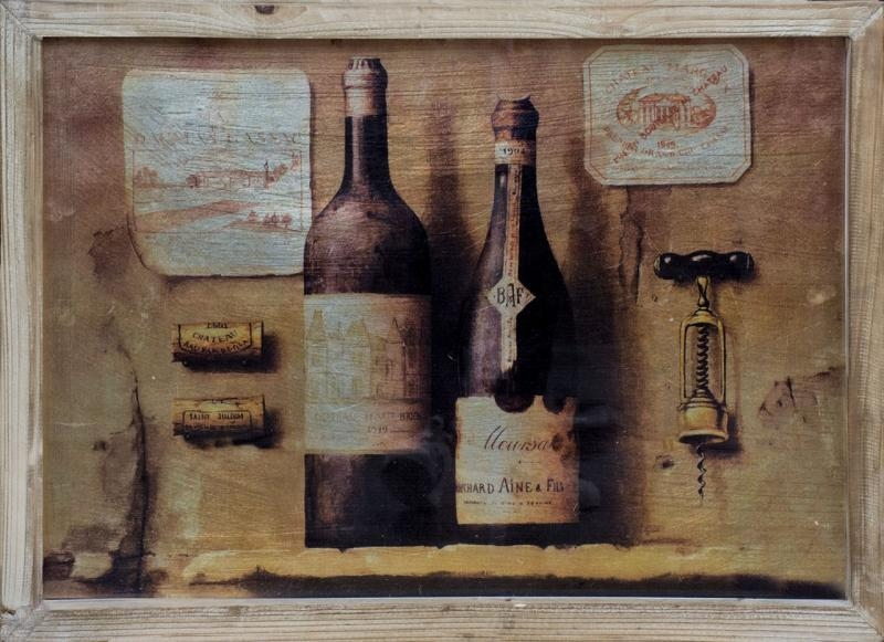 Vintage Winemaker's 3D Wall Art Painting | Mulberry Moon Regarding Vintage 3D Wall Art (Photo 19 of 20)