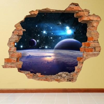 Vinyl Wall Sticker (Space) With Regard To Space 3D Vinyl Wall Art (Image 17 of 20)