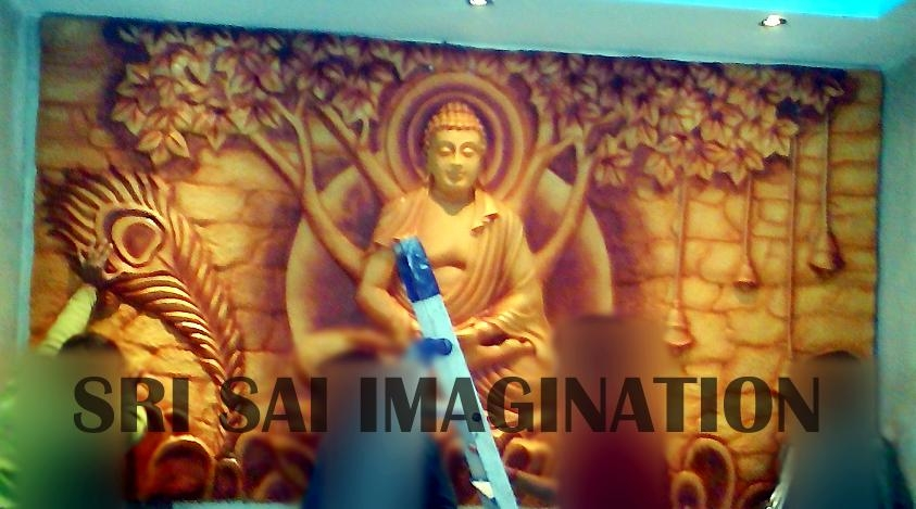 Wall 3D Art | Fiberglass Statue | Bas Relief Sculpture | Fiber Within Bangalore 3D Wall Art (Image 15 of 20)