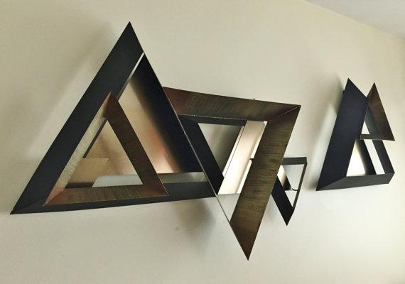 Wall Art 3D Brasil | Wallartideas For 3D Triangle Wall Art (Image 19 of 20)
