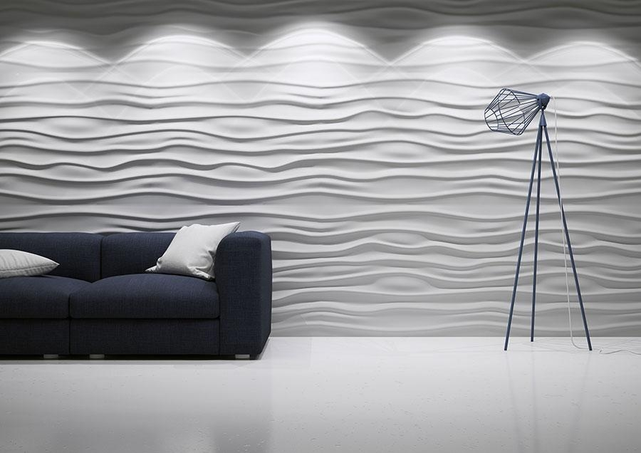 Wall Art 3D Cena | Wallartideas Regarding Waves 3D Wall Art (Image 12 of 20)