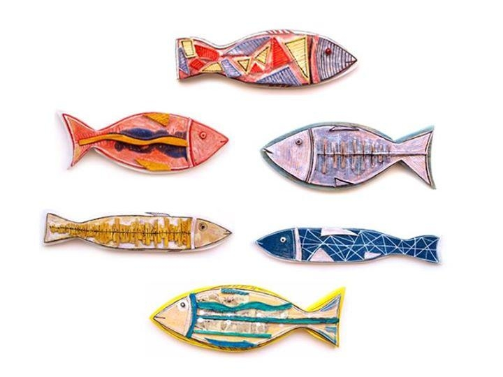 Wall Art Ceramic Fish | 99Heads Pertaining To Fish 3D Wall Art (Image 16 of 20)