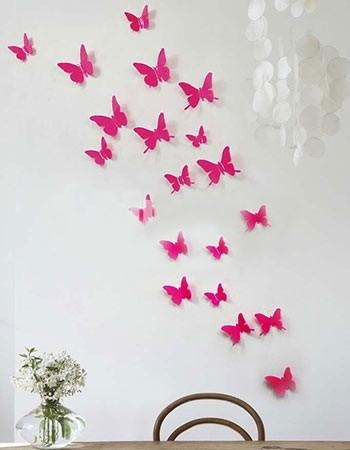 Wall Art Decor Ideas: Gossip Girl 3D Butterfly Wall Art Decals Pertaining To 3D Butterfly Wall Art (View 20 of 20)