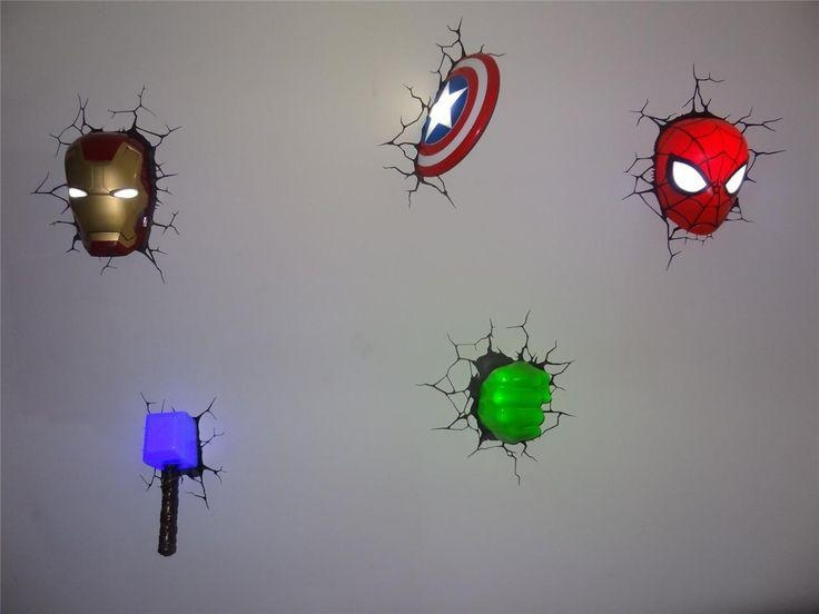 Wall Art Design Ideas: The Avengers 3D Wall Art Night Light For 3D Wall Art Captain America Night Light (Image 18 of 20)