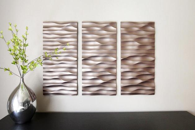 Wall Art Design: Wall Panels Art Metal 3D Wall Art Panels Textured In 3D Wall Panels Wall Art (Image 16 of 20)