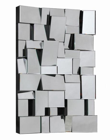 Wall Art Designs: Mirror Wall Art 3D Art Deco Faceted Wall Mirror With 3D Modern Wall Art (Image 19 of 20)