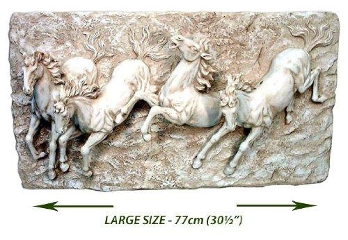 Wall Art Designs: Wall Art Sculpture Large 4 Horses Wall Art For 3D Horse Wall Art (Image 15 of 20)