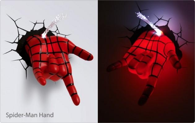 Wall Art Ideas Pertaining To 3D Wall Art Night Light Spiderman Hand (View 2 of 20)