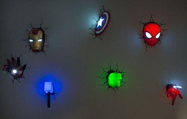 Wall Art Ideas Pertaining To 3D Wall Art Thor Hammer Night Light (View 3 of 20)