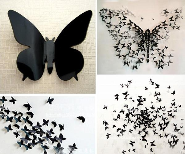 Wall Art Ideas Pertaining To Diy 3D Butterfly Wall Art (Image 20 of 20)