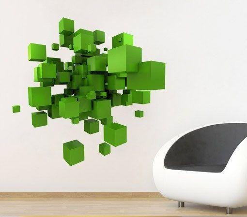 Wall Art Ideas Regarding Space 3D Vinyl Wall Art (Image 19 of 20)