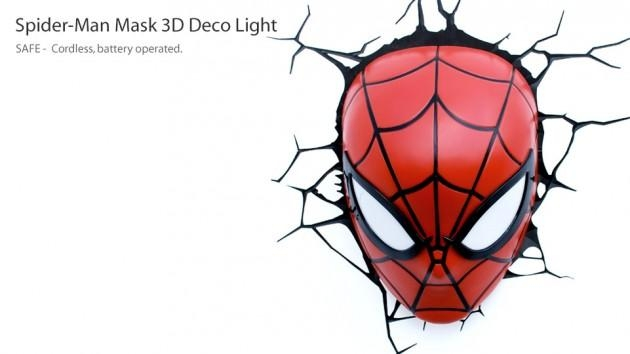 Wall Art Ideas With 3D Wall Art Night Light Spiderman Hand (View 7 of 20)